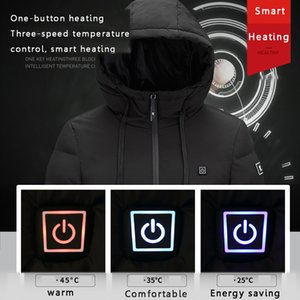 Men's outside heating women's coat USB jacket USB infrared heating hat electric jacket heating clothes waterproof ski climbing coat