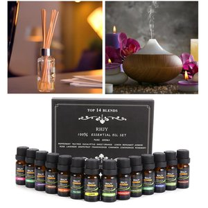 14Pcs Set 100% Pure Plant Aromatherapy Diffusers Essential Oil 10ml Organic Body Massage Relax Fragrance Skin Care Kit