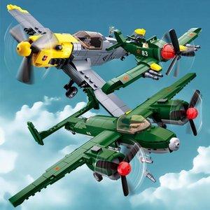 Bloklar Çocuk Fighter Plane Hava Sovyetler Bombacı Ww2 Birliği 109 Tu Kuvvetler Yapı Askeri Oyuncaklar Playmobil Savaşı ayarlar 2 Tuğlalar Ordu Bf yxlShO