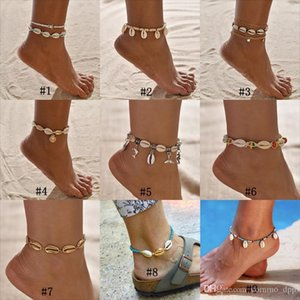 Bohemian Sea Shell Anklet For Women Seed Beads chains Dolphin Turtle Pendant Charm Summer Beach Barefoot ankle Bracelet On Leg Boho Jewelry