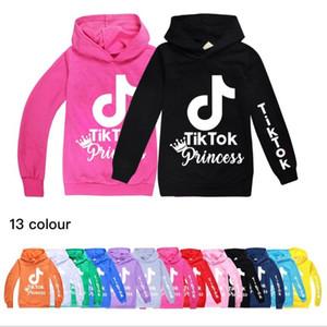 Tik Tok newest Print Hoody Kids Hooded Sweatshirt Casual Tops Boys Girls Hoodies Cotton T-shirt Children Clothes