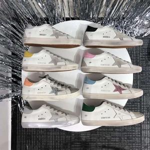GGDB★Love Multicolor Golden Superstar Gooses Zapatillas de deporte Hombres Mujeres Classic White Do-Old Old Sucio Zapatos Casual Zapatos Tamaño 34-44