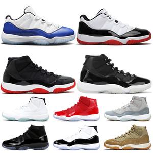 Nike air jordan 11 11s stock x jordan retro 11 Jumpman 11 11s Chaussures de basket Femmes Hommes Concord bleu Bred 25e anniversaire Sneakers