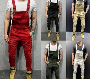 GAOKE UK Mens Fashion Denim Dungaree Bib Overalls Jumpsuits Moto Biker Jeans Pants Trousers 202055