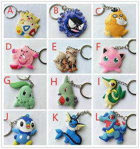 Più stile 5-6 cm Totodile Snivy Haunter Arcanina Larvitar Togepi Chansey Psyduck Piplup Chikorita PVC Actor Figure Toychain Toy