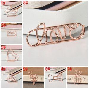 Corona creativa metallo fenicottero rosa carta oro bookmark memo planner clip scuola ufficio cancelleria forniture BH