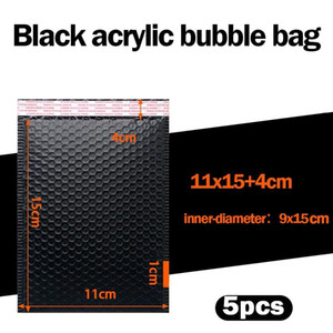 5pcs Bubble Mailers Padded Envelopes Lined Poly Mailer Self Seal Black For Book Magazine Lined Mailer Self Seal Black Mailer Bag H bbysIy