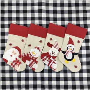 2020 Hot DHL Selling Cute Large Stocking Creative Santa Snowman Elk Gift Candy Bag Christmas Decoration Pendant