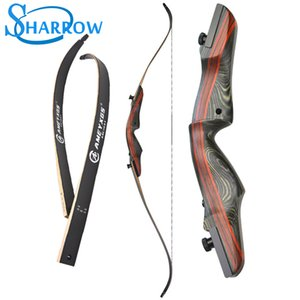 "62 ""Recurve Arco 20-50 Lbs Takedown Bow Wood Longbow Tiro con arco Caza Arco Shooting Maple Handle Slingshot 201110"