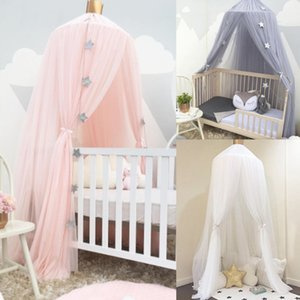 Mosquito Net with FREE Stars Hanging Tent Baby Bed Crib Canopy Tulle Curtains for Bedroom Play House Tent for Children Kids Room 201111