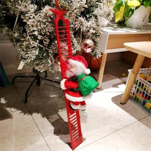 Electric Ladder Santa Claus Toys Pendant Xmas Snowman Christmas Miniature Crafts DIY Name Blessing Word New Year Christmas Decor