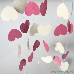 4meter heart dots paper Flag Party bell garland Decoration Banner Bunting for birthday wedding event