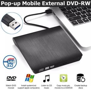 USB 3.0 externo delgado de CD DVD RW Writer unidad grabadora de lector del jugador Unidades ópticas para PC portátil de DVD Grabadora de DVD portátil
