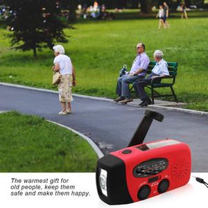 USB 전화 충전기와 광저우 Juropin 휴대용 손 크랭크 손전등 2000MAH 태양 광 발전 디나모 배터리 라디오