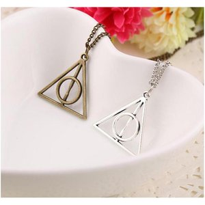 100pcs Harry Book The Deathly Hallows Necklace Antique Silver Bronze Gold Deathly Hallows Pendants Potter Fashion Jewe sqcqLn queen66
