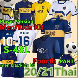 2020 2021 Boca Juniors Jerseys Football Fourth Tevez Maradona de Rossi Fans Player Carlitos Gago Camiseta de Fútbol Osvaldo Troisième Shorts Polo