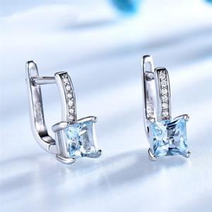 Luxury 925 Silver Gift Earring for Women Ladies 2021 New Design Diamond Engagement Wedding Dress Jewelries for Girls Ear Studs Design Items
