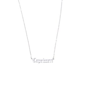 Necklace girl simple fashion clavicle temperament light luxury 12 constellation pendant stainless steel retro English letter gift