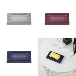 Creative Soap Box Drain Soap Holder Box Bathroom Supplies Shower Storage Box Non Slip Soap Dish Gadgets 117 K2