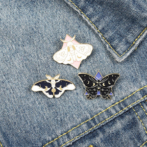 Broches borboleta bonito Esmalte Pin para o emblema Mulheres Girl Fashion Jóias Acessórios de Metal Vintage Broches Pinos Atacado presente
