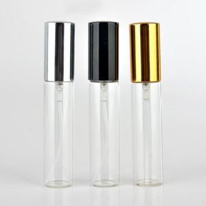 Mini feiner Nebel klar 10ml 1 / 3Oz Zerstäuber Glasflasche Spray Nachfüllbarer Duft Parfüm leerer Duftflasche mit Aluminiumsprayer EWB1441