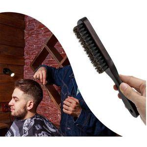 Wood Handle Boar Bristle Cleaning Brush Hairdressing Beard Brush Anti Static Barber Hair Styling Comb Shaving Tools jllglW