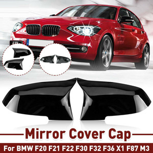 Pair Gloss Black Side Wing Mirror Caps Covers for BMW F20 F21 F23 F30 F36 F32 M2