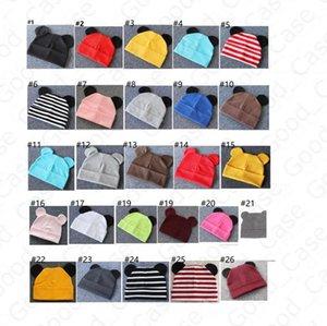 Infant Baby Cotton Hat Rabbit Ear Cartoon Beanies Kids Autumn Winter Fashion Outdoor Keep Warm Hats Skull Caps Headwear 26 Colors F101601