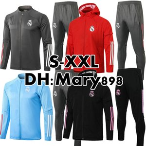 Super Buona Qualità 2020 2021 Set da calcio Real Madrid / TrackSuits Real Madrid Training Wear / Possono essere venduti separatamente Giacca / Pantaloni S-XXL