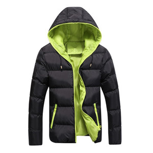 new hot winter Jacket for men hooded coats casual mens thick coat male slim casual cotton padded down outerwear