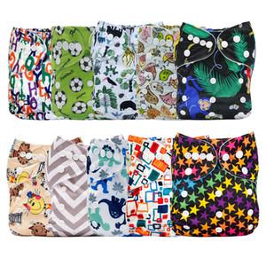 [Mumsbest] 10шт / уп Оптовая цена Детские водонепроницаемой ткани пеленок Карманный моющийся дышащий подгузник крышка Направлено случайный цвет 1015