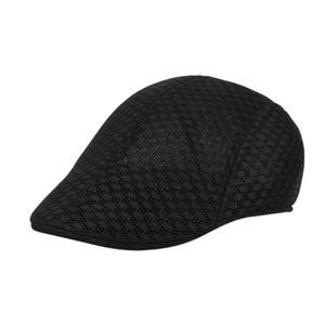 Sombrero del golf de malla transpirable Newsboy sombreros casual de los nuevos hombres de la boina de las boinas Caps Caps for Men Casual enarbolado sombrero de los viseras Casquette Sombreros
