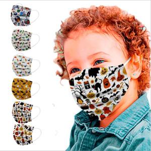 Cara niños máscara máscaras desechables impreso historieta cara de calabaza dinosaurio Impresión boca cubierta de personalidad Máscaras de diseño FWC3504