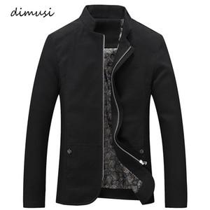 Giacca DIMUSI nuovi uomini di Primavera Autunno Windbreaker Cappotti Casual Male Jacket Solid Maschio Marca Cappotti Abbigliamento 5XL, TA102
