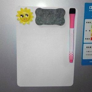 21*15cm Waterproof Whiteboard Writing Board Magnetic Fridge Erasable Message Board Memo Pad Drawing Home Office xUip#