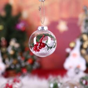 80MM ricaricabile libero rotondo sfera di plastica per alberi di Natale Holiday Party decorazioni d'attaccatura di casa Natale Decor YIcn #