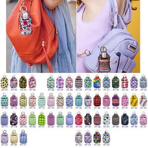 Desinfectante de la mano de neopreno Llavero Bolsas 30ML 10 * 6cm botella desinfectante de la mano bolso al aire libre de la botella de desinfectante portátil llavero Portadores HWC1869
