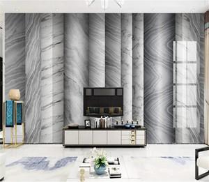 Jazz White Geometric Marble Texture TV Sofa Wall Digital Print Wallpaper