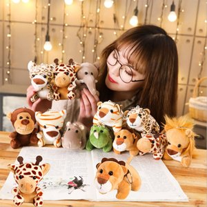 Simulated Small Animal Soft Toys For Children Boys Doll Pendant Elephant Plush Girls Toys Monkey lion leopard Tiger PP Cotton