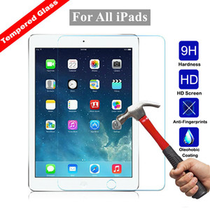 9H Premium Tempered Glass Screen Protector Film For iPad Pro Air 4 Air4 10.9 2020 11 7 8 10.2 10.5 9.7 2018 Mini 2 4 5 6 Without Package