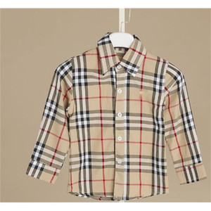 Breasted Boys Shirt Children Plaid Long Sleeve Single Shirts England Style Kids Designer Brand Clothes For Boy