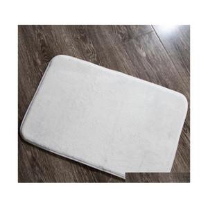 Bath Rug Diy Blank Sublimation Bathroom Non-slip Toilet Mats Floor Carpet Thickness 1.2cm For Heat qylsFh wphome