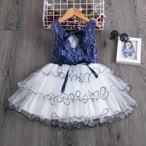 2-7Y enfant bébé enfant filles princesse tutu robe arc fleur fleur anniversaire anniversaire pageant fête robes de mariée f jllygv
