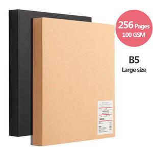 Kraft notebook addensare sketchbook, diario B5 grandi dimensioni, carta bianca 100 GSM, 256 pagine, forniture d'arte