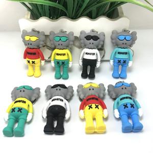 11,11 Vente à bas prix 6.8cmh ight de PVC stéréo 3D KAWS Sesame Street Poupée Cartoon Joint Pendentif Kaws chiffres d'action