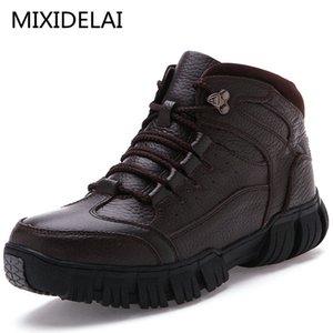 MIXIDELAI SUPER CALDO GENUINE PELLE INVERNO Pelliccia militare stivali da uomo per scarpe da uomo Zapatos Hombre LJ200918