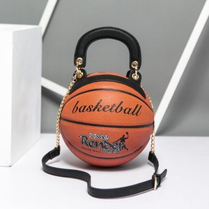 Bag women 2020 new trend round women's bag basketball shape personality creative single shoulder chain diagonal bag