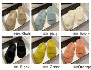 New Arrival Winter Warm Artificial wool Women's Slippers Plush Outdoor Home Flat Shoes Fashion Casual Girls Home Clothing Size 35-42 LY10201