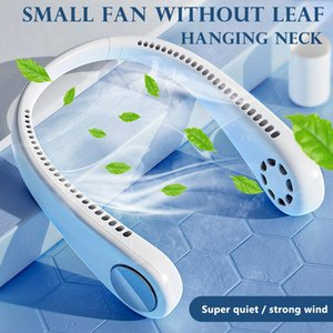 2000 mAh Portable Neck Fan Mini Fan 3 Speed USB Rechargeable Quiet Hand Free Personal Fan Desk Adjustable Neckband Bladeless Free DHL