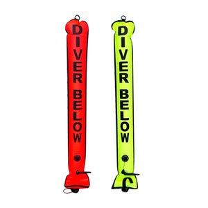 2x Mergulho Sealed Sausage Signal Tubo / Surface Marcador da bóia Nylon Diver